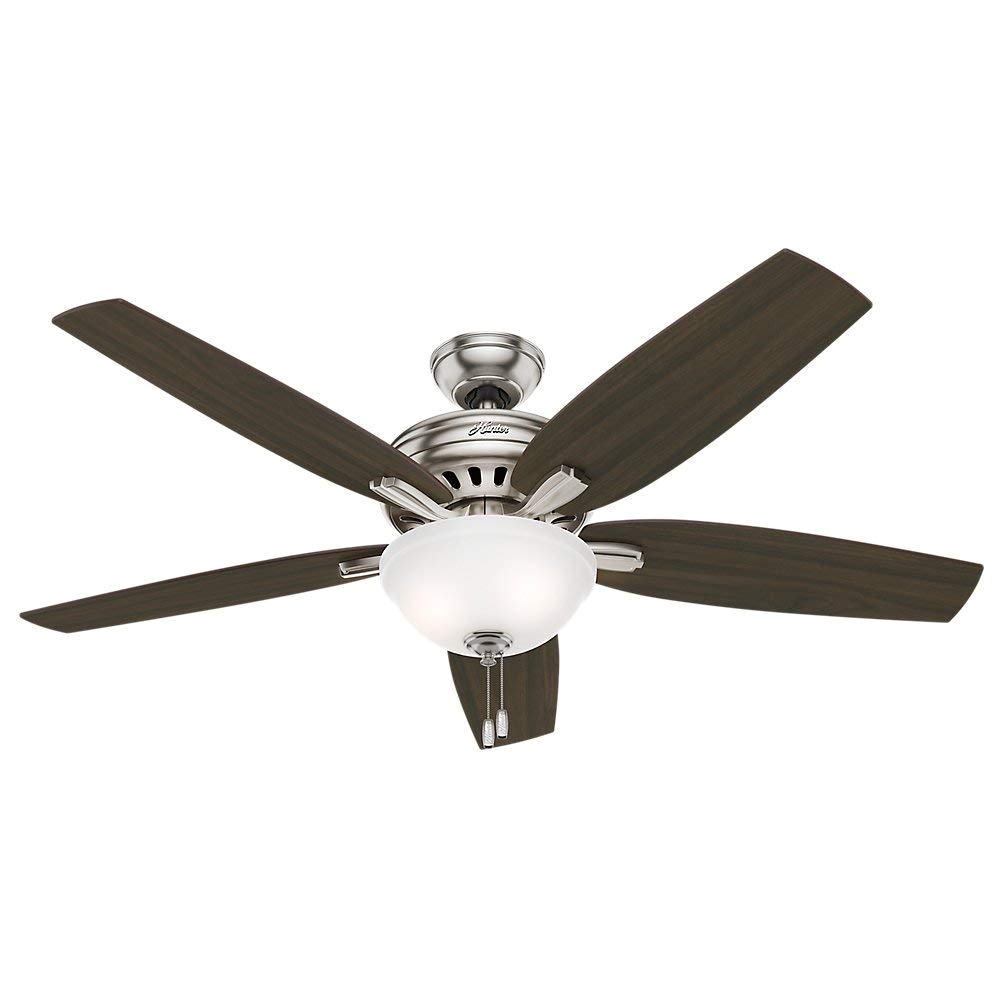 hunter 54162 newsome ceiling fan with light 56 brushed nickel amazon com