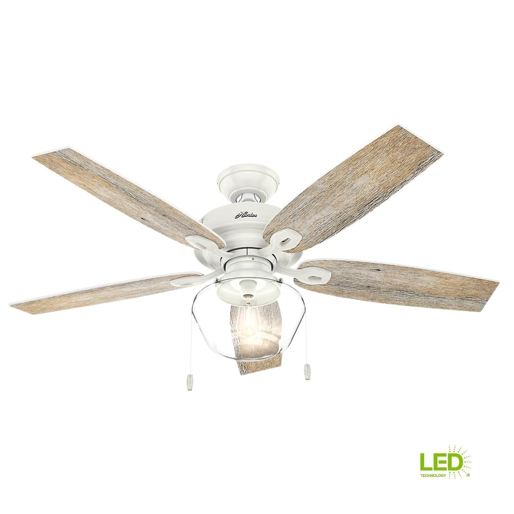 Hunter Fan Light Cover Hunter Crown Canyon 52 In Led Indoor Outdoor Fresh White Ceiling