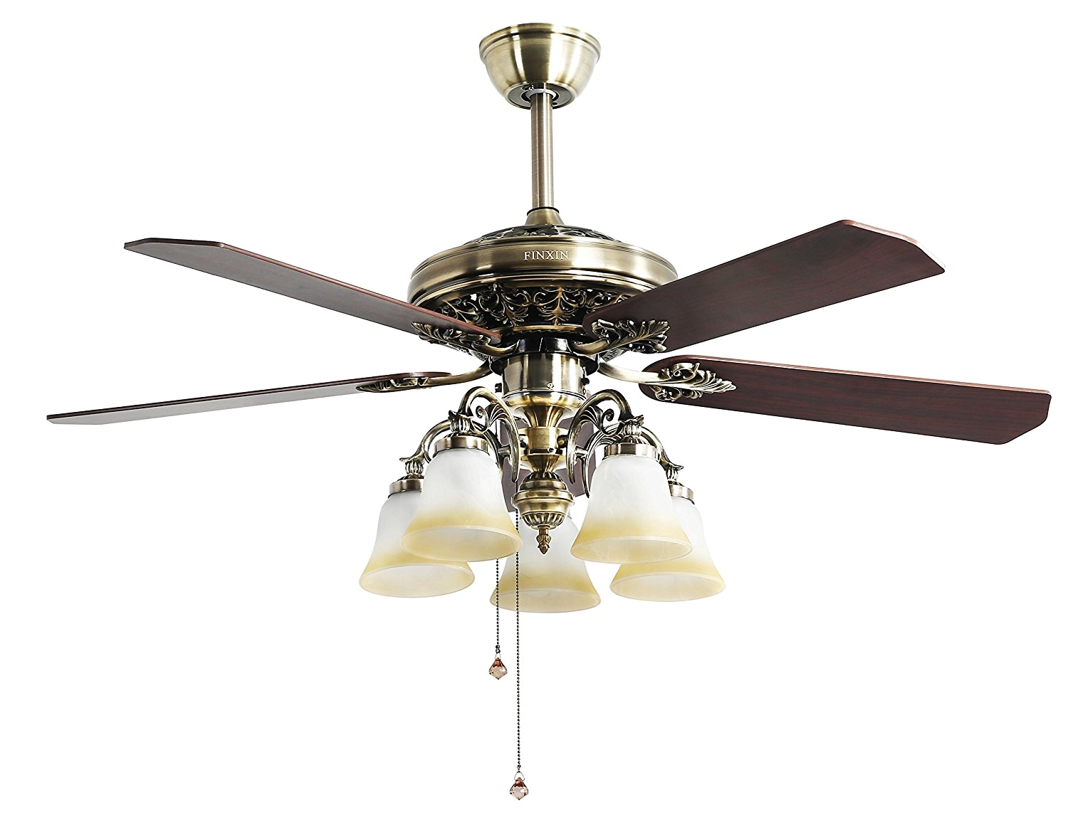 indoor ceiling fan light fixtures finxin fxcf03 new style new bronze remote led 52 ceiling fans for bedroom living room dining room including motor