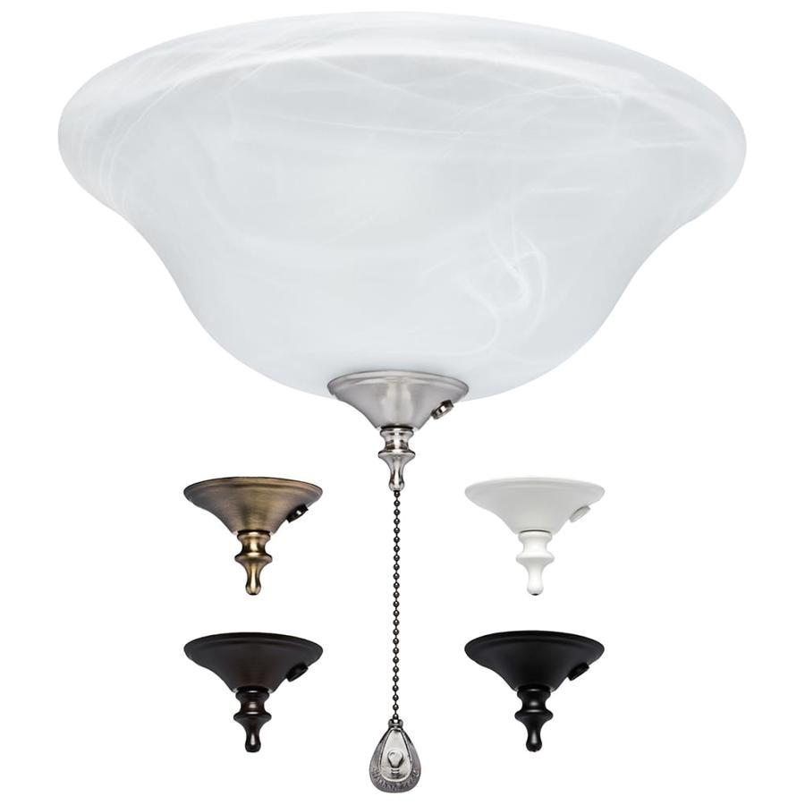 harbor breeze 3 light alabaster incandescent ceiling fan light kit with alabaster glass shade