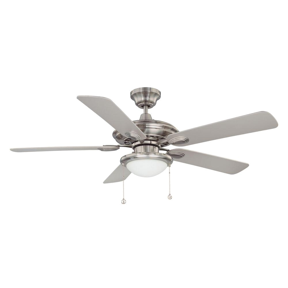 satin nickel ceiling fan