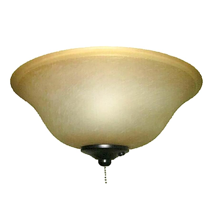harbor breeze 2 light black bronze incandescent ceiling fan light kit with alabaster glass
