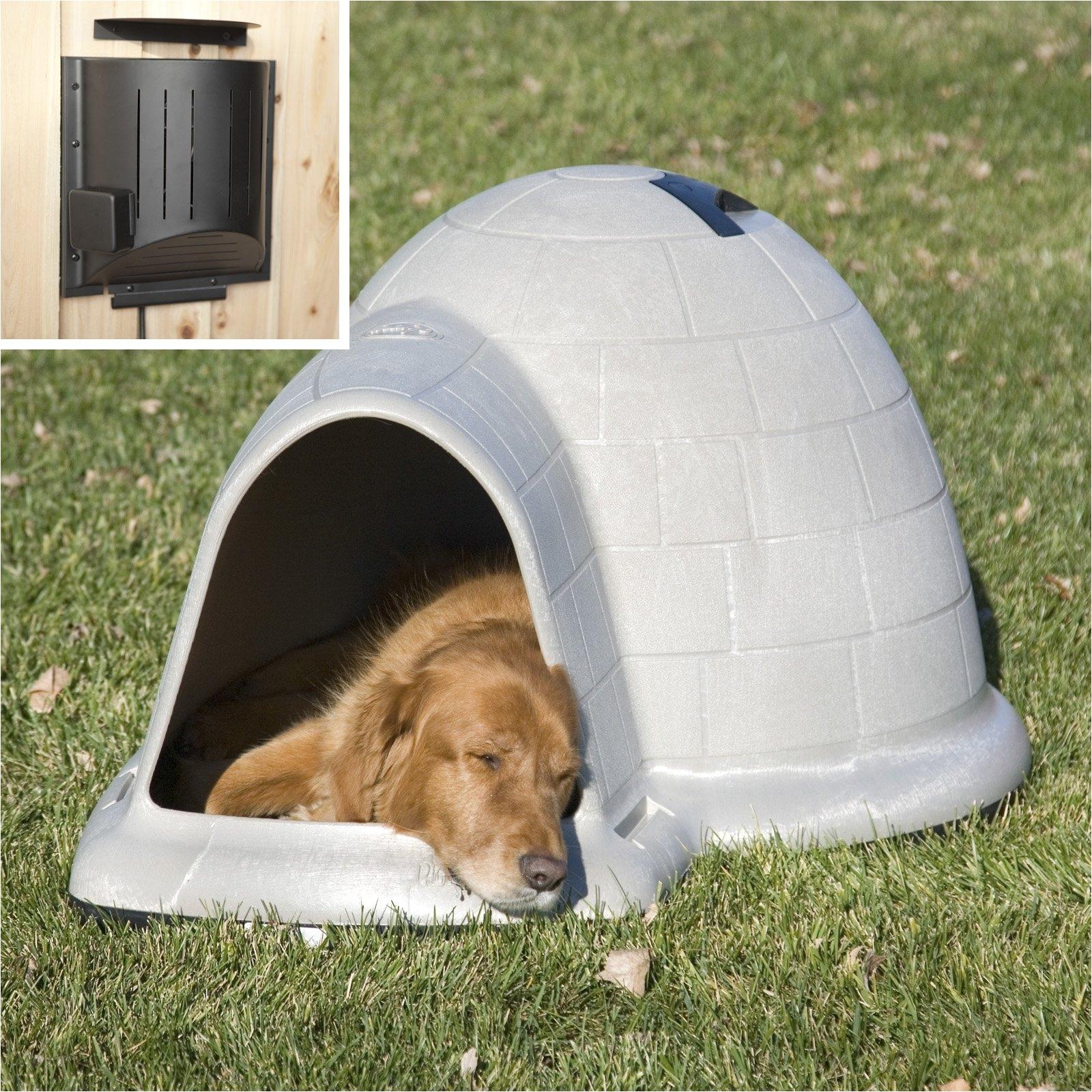 Igloo Dog House Heat Lamp Petmate Indigo Dog House with Heater Hayneedle