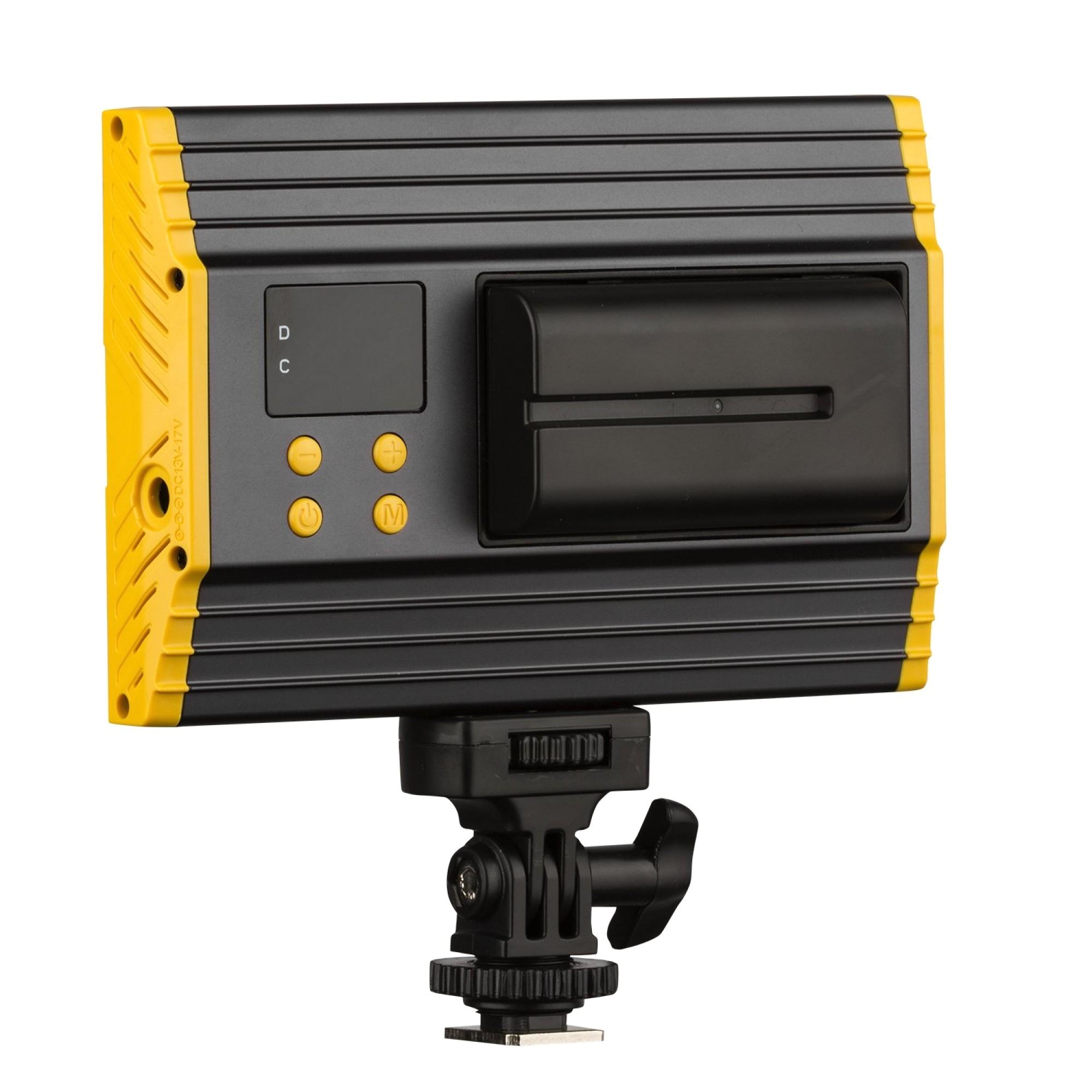 leos camera supply ikan oyb120 onyx 120 bi color aluminum on camera led light