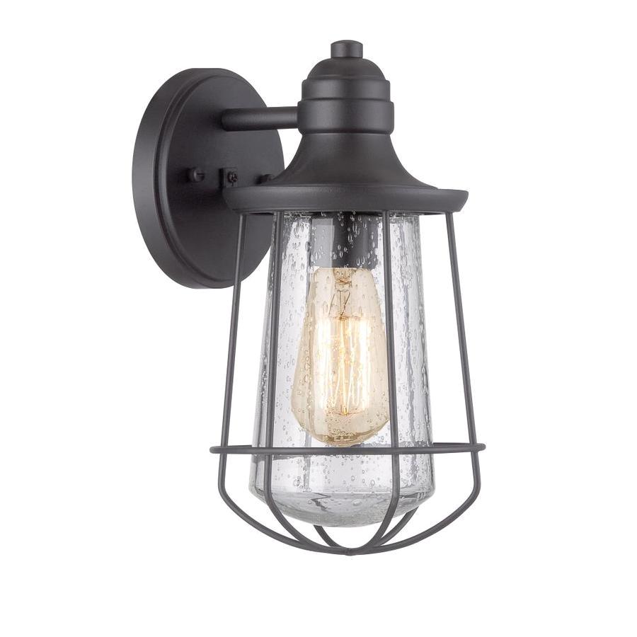 portfolio valdara 11 5 in h black outdoor wall light bulb included
