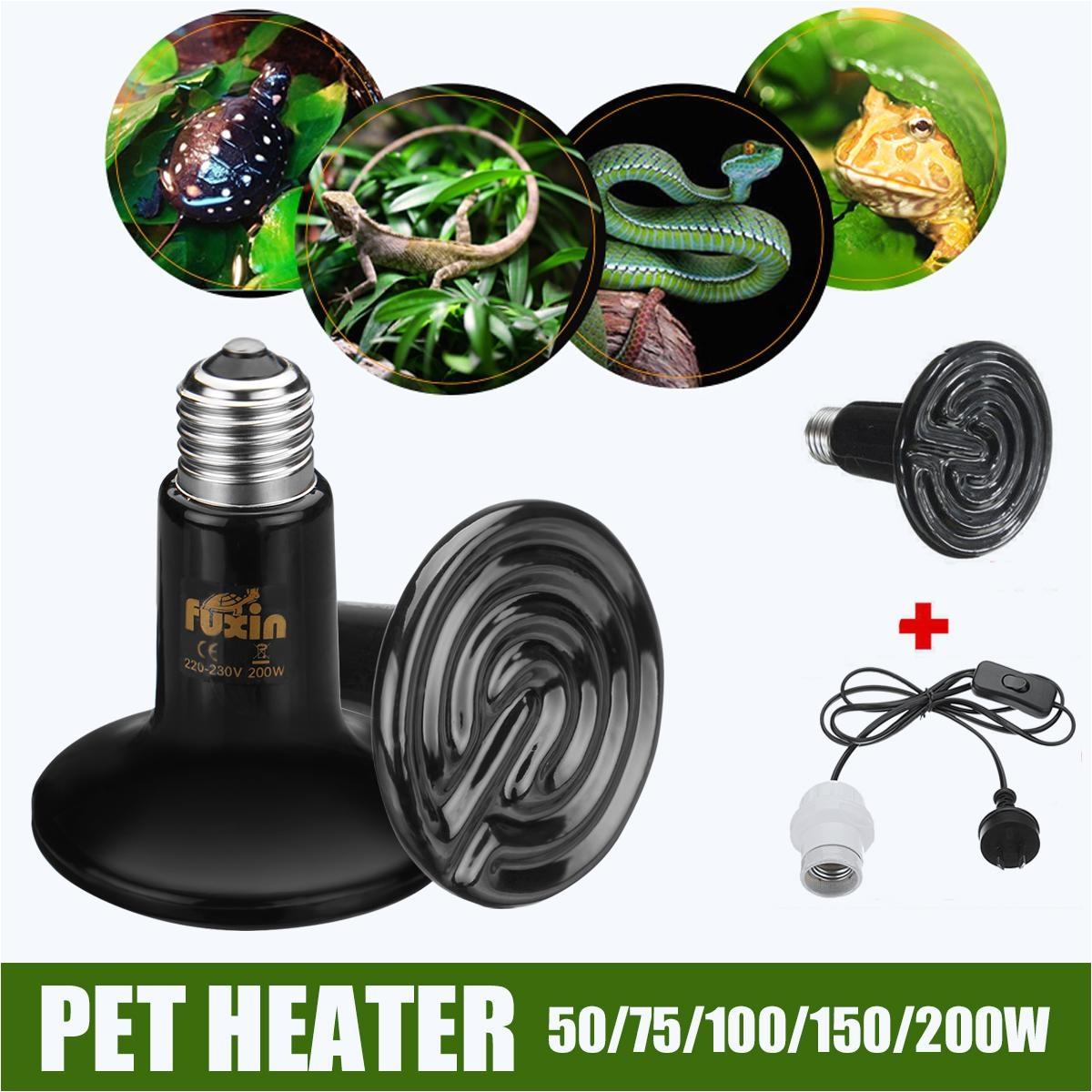 220v ceramic heat emitter reptile bulb day night light lamp 150m cable holder intl
