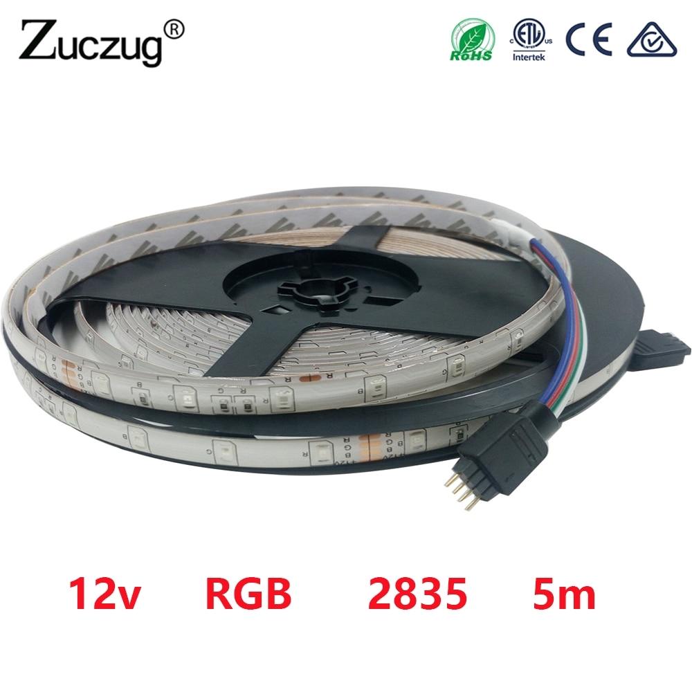 aliexpress com buy 12 v led strip rgb none light tape 2835 5m dc 12v 60led m waterproof rgb ledstriptape lamp diode ribbon fleible 3528 for party from