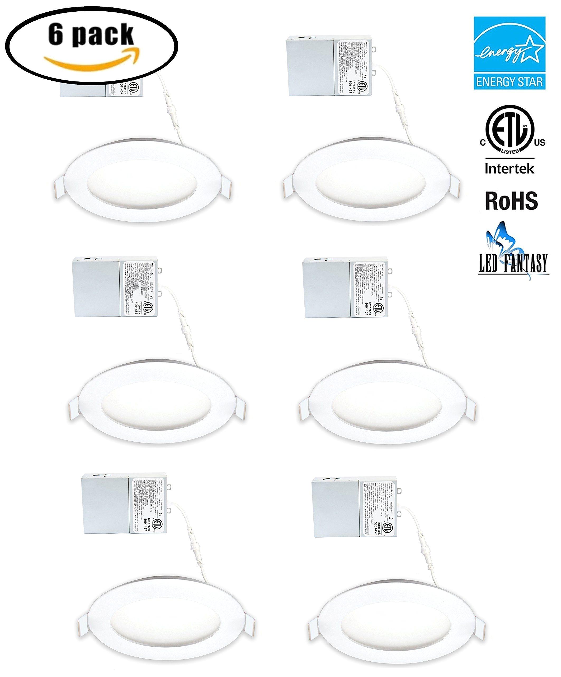 led fantasy 4 inch 9w 120v recessed ultra thin ceiling led light retrofit panel slim