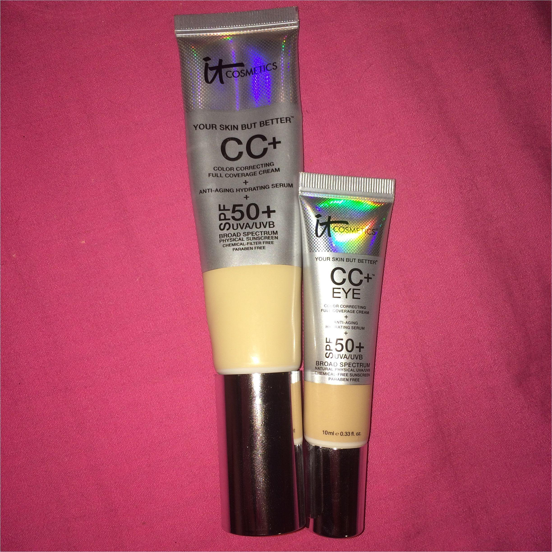 it cosmetics cc fair tall bottle and it cosmetics cc eye light