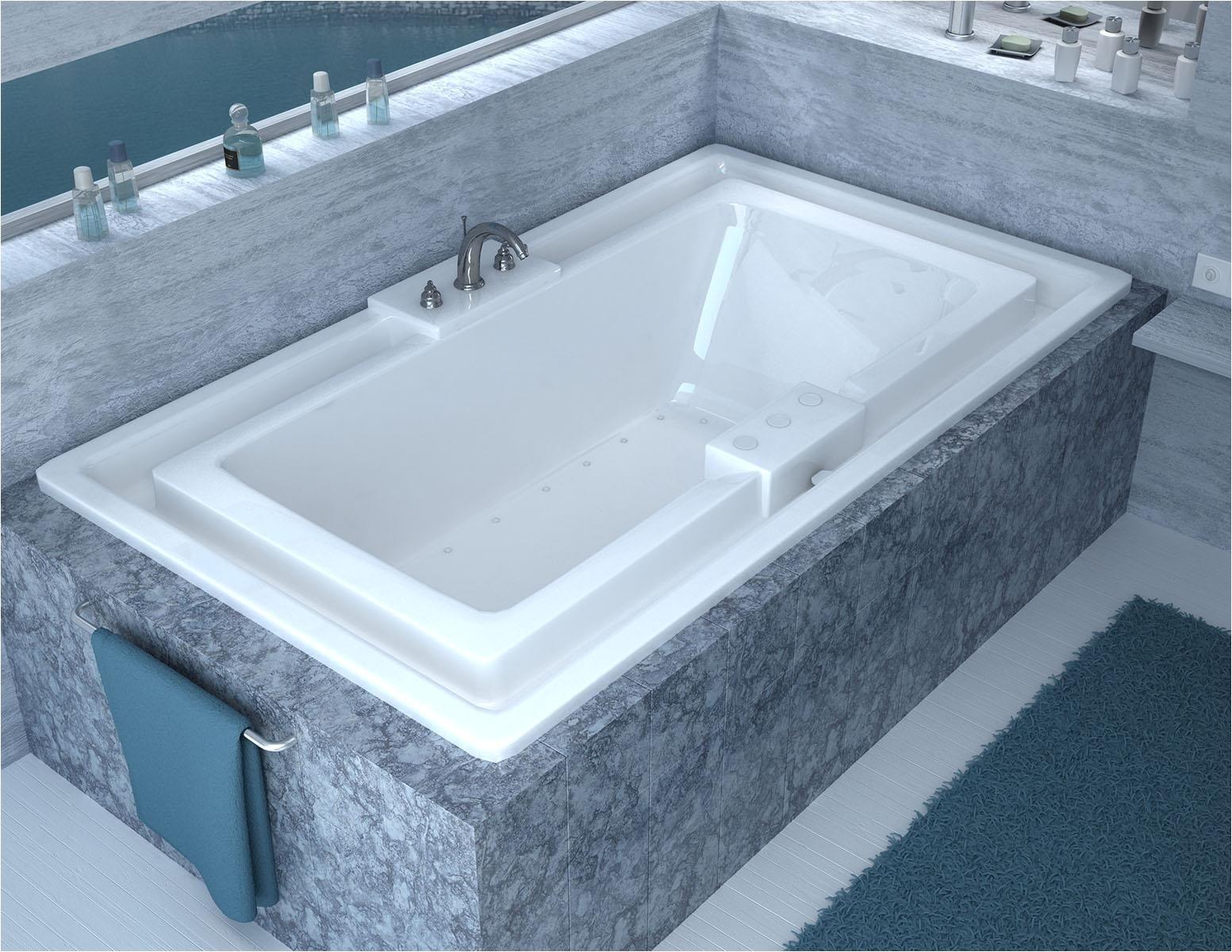 venzi celio 46 x 78 endless flow air jetted bathtub with center drain