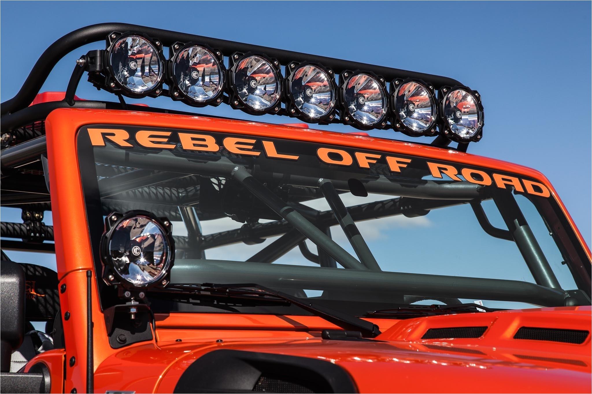 gravity led pro6 8 light 50 universal light bar system on jeep jk 07