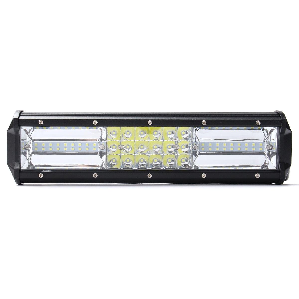 12 inch 324w led light bar flood spot combo off road car truck 10 30v
