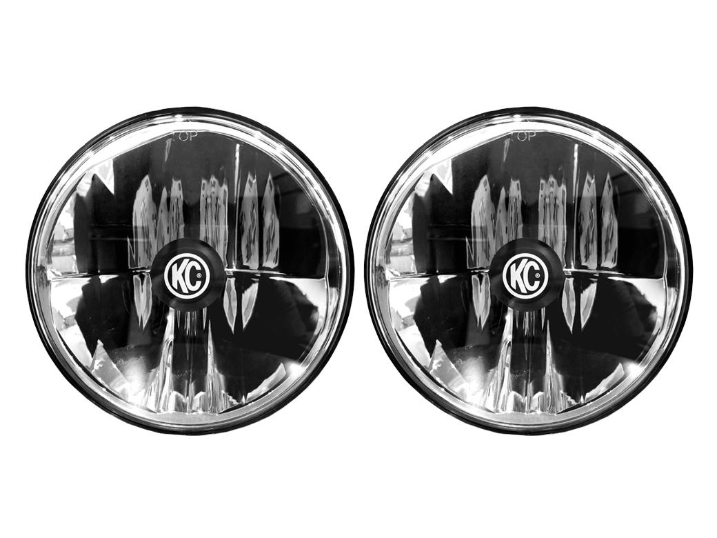 kc hilites gravity led 7 headlight pair pack system