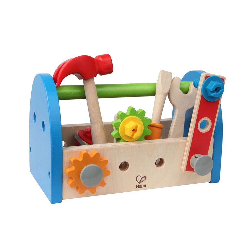 hape wooden fix it tool kit e3001