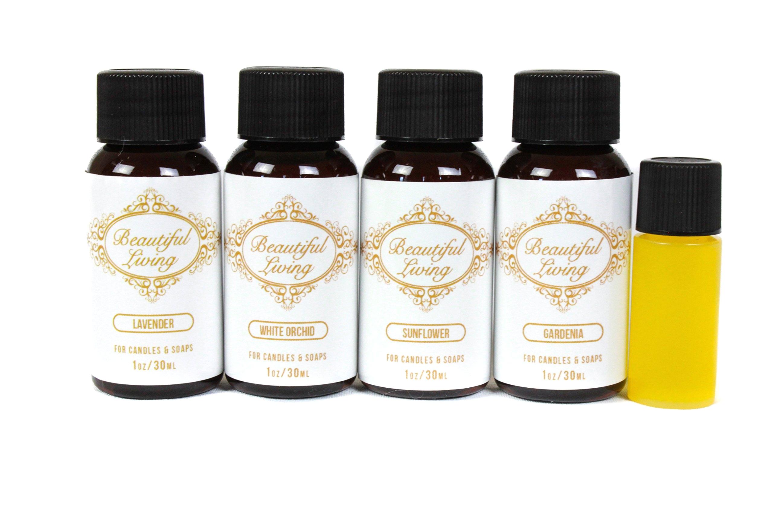 get quotations a· fragrance oil sampler set with bonus oil lavender gardenia sunflower white orchid