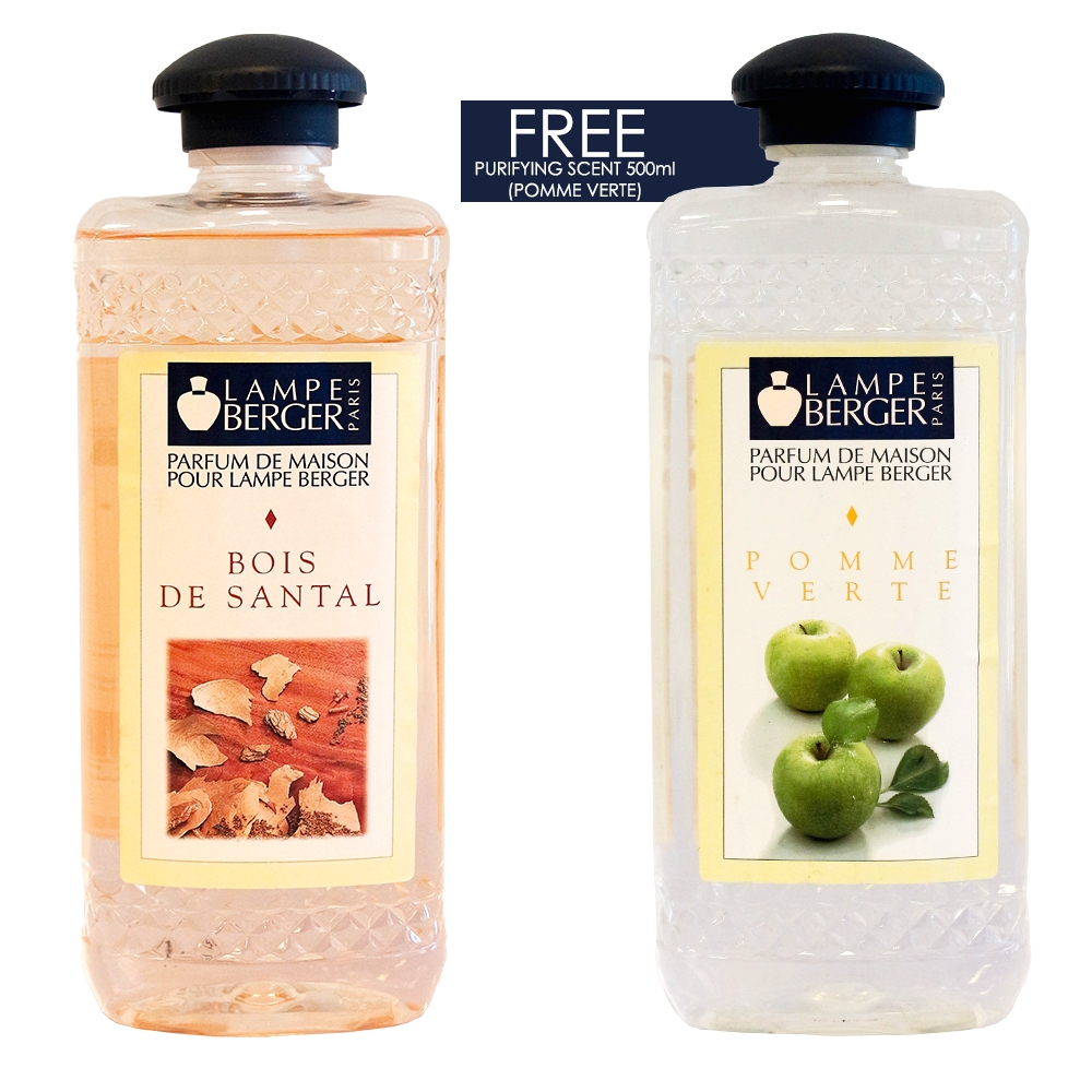 lampe berger bois de santal and lampe berger pomme verte purifying scent