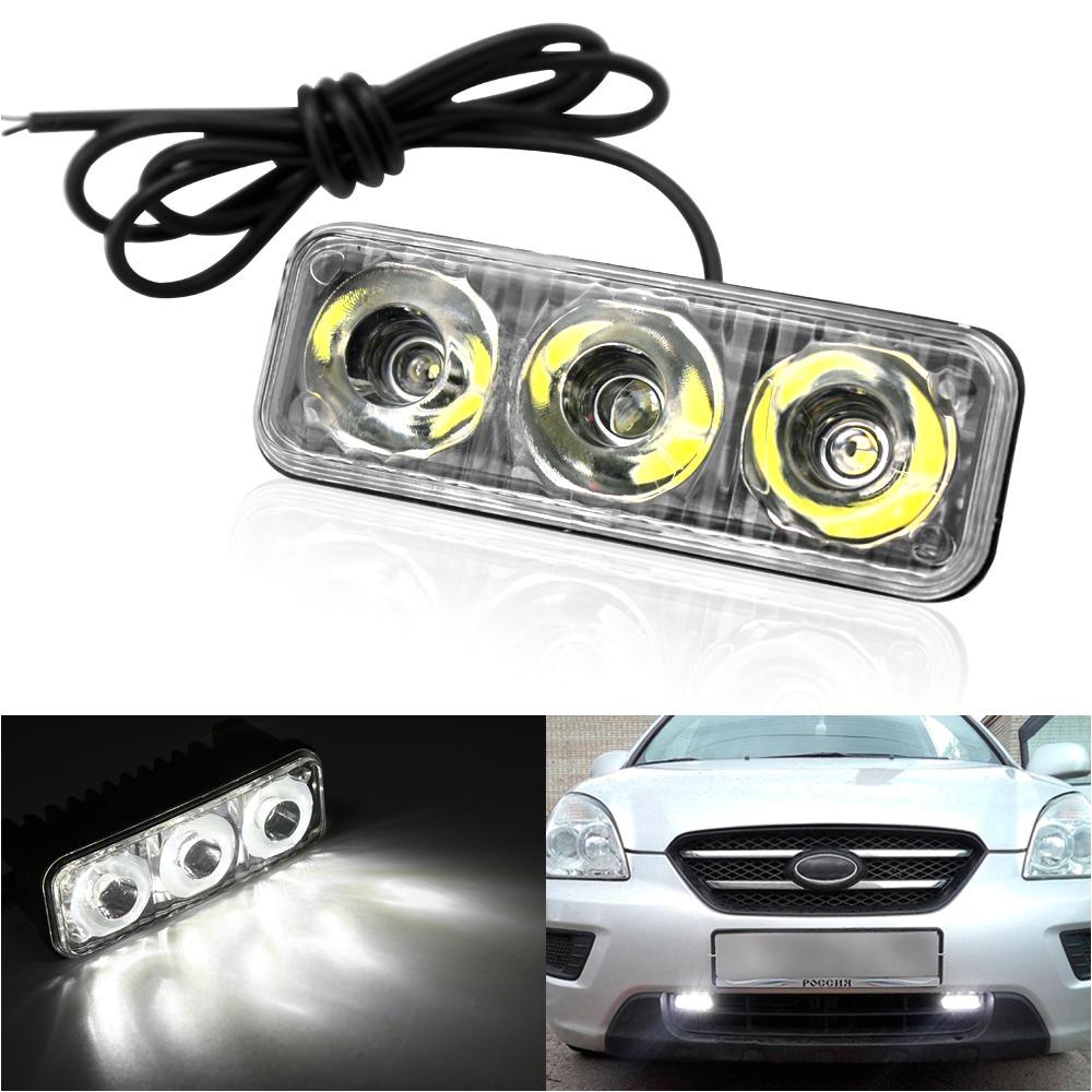 2018 car high power aluminum led daytime running lights with lens dc12v super white 6000k drl fog lamps waterproof from cujuflo 34 73 dhgate com