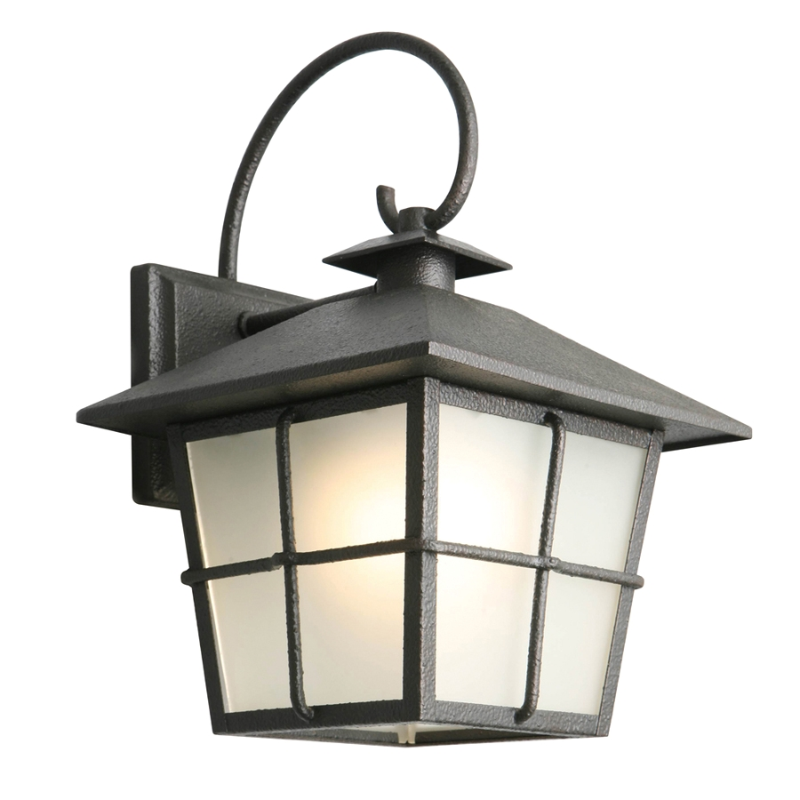 portfolio 11 75 in h black led outdoor wall light energy star