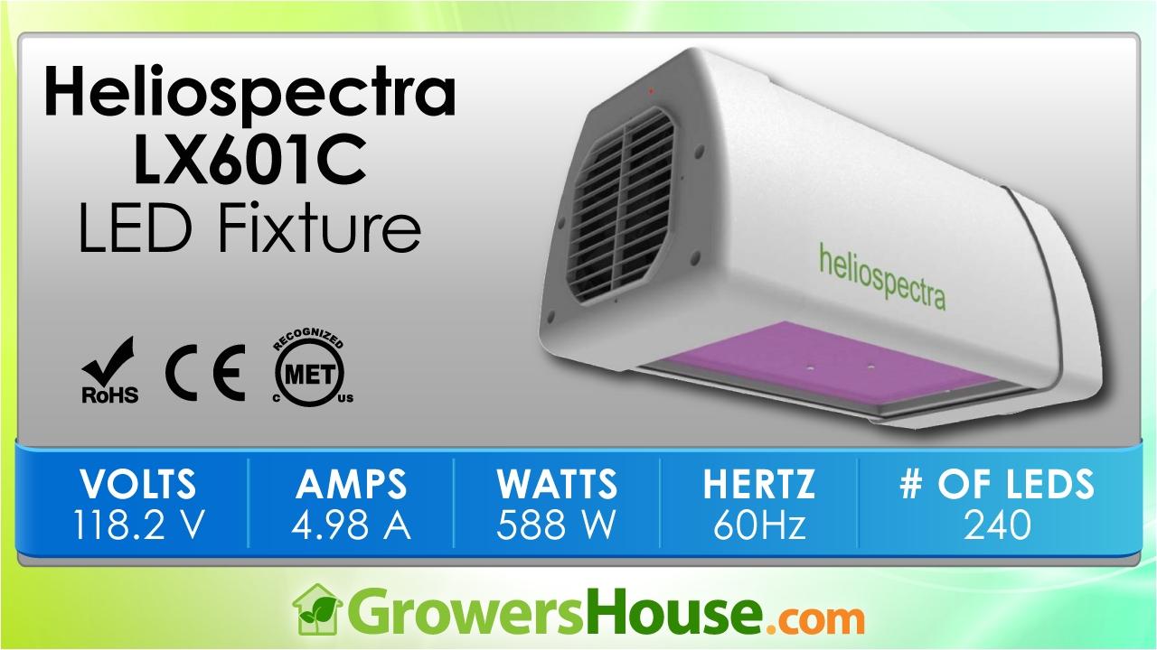 heliospectra lx601c led grow light review unboxing par test growers house review lab