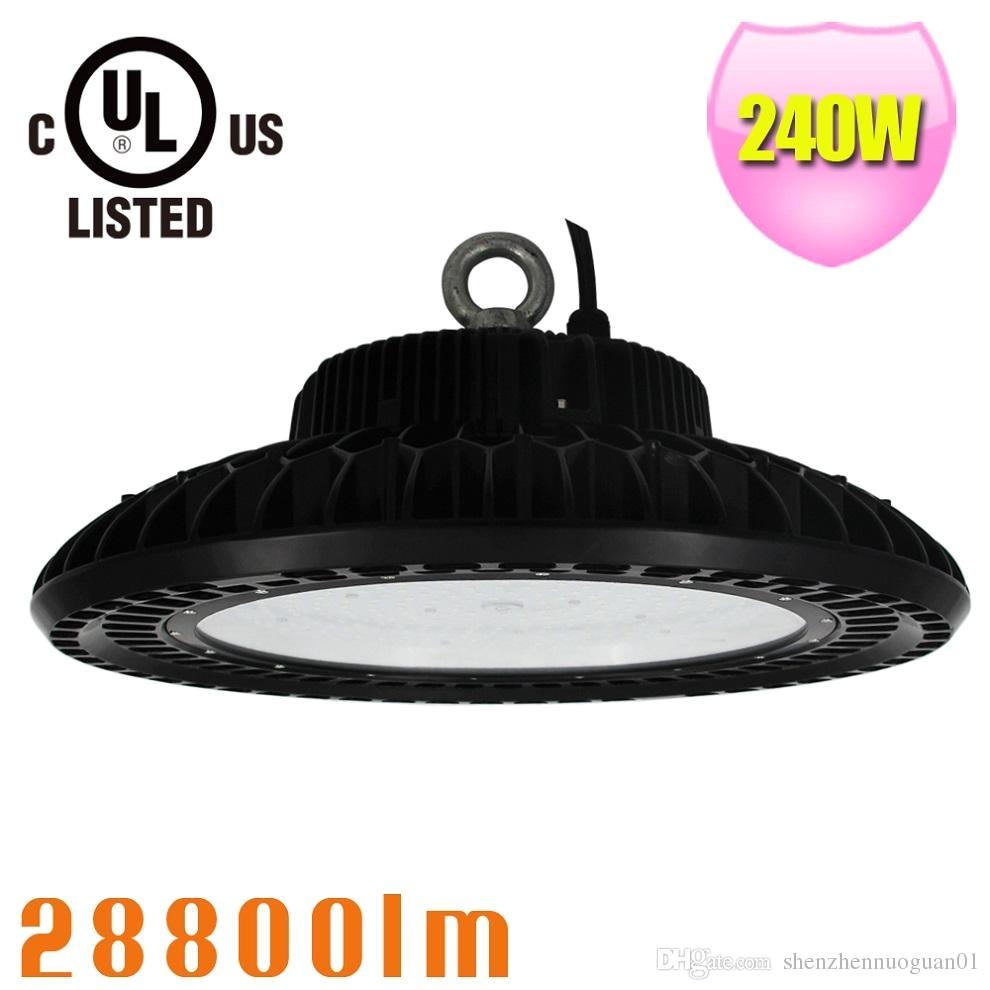 240watt led high bay lights equivalent 1000w metal halide hps mh bulbs waterproof ip65 5700k for workshop garage warehouse ufo high bay 240watt led high bay