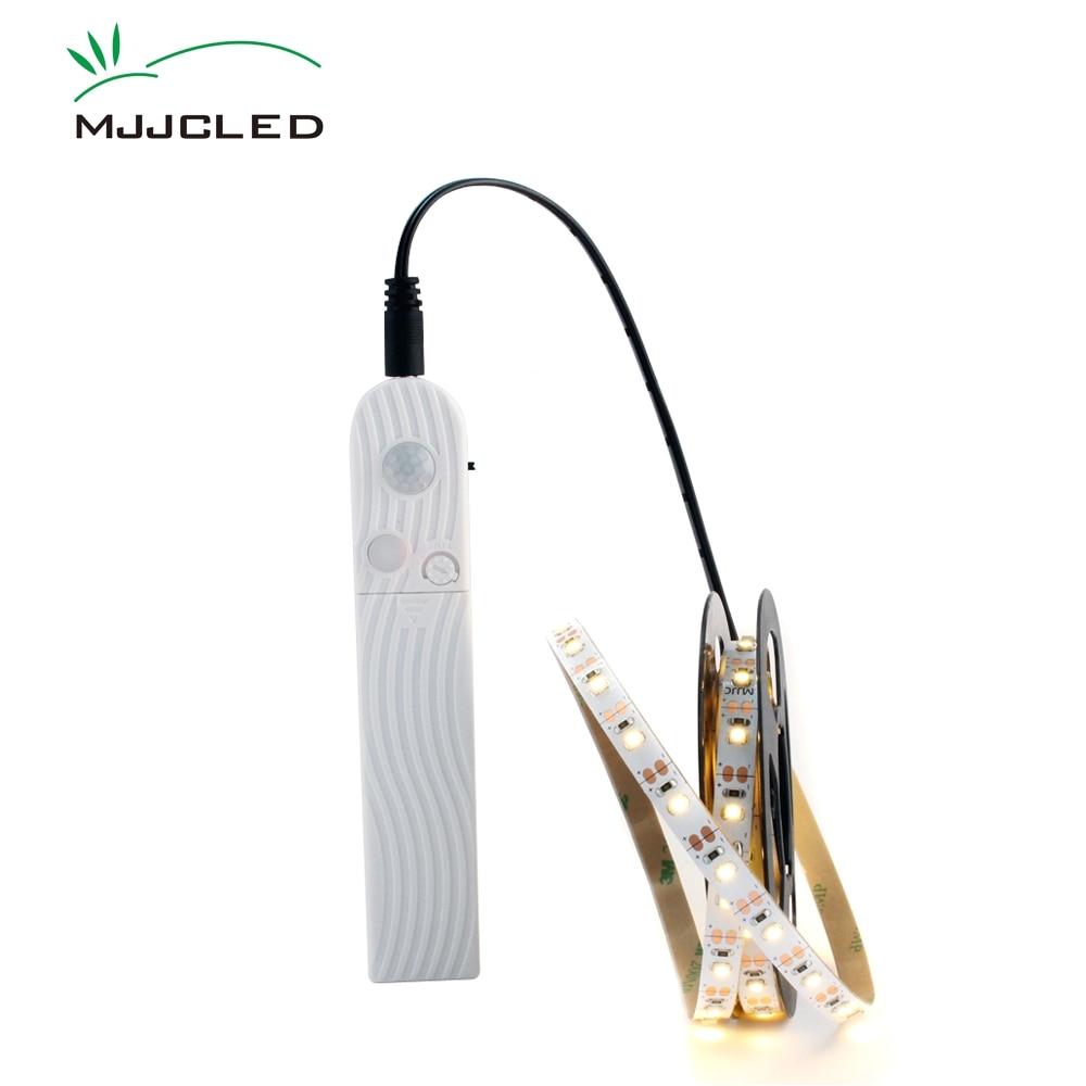 led light strip battery powered 1m 2m led strip sensor 50cm led tape battery operated pir