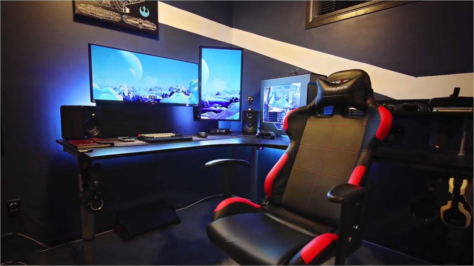 gaming rooms gaming desk gaming setup media rooms lighting games