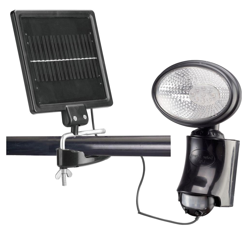 classy caps outdoor black solar motion sensor security light