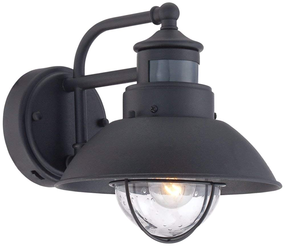 oberlin 9h black dusk to dawn motion sensor outdoor light amazon com