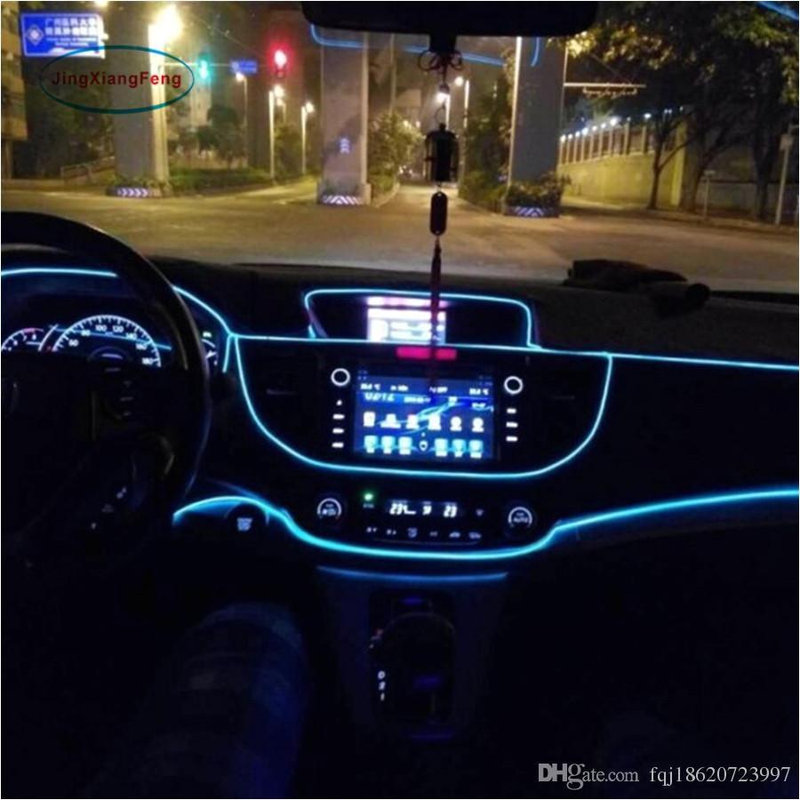 1m flexible el wire noen light dc 12v car interior led strip light auto diy atmosphere lamp el led inside online with 7 66 set on fqj18620723997s store