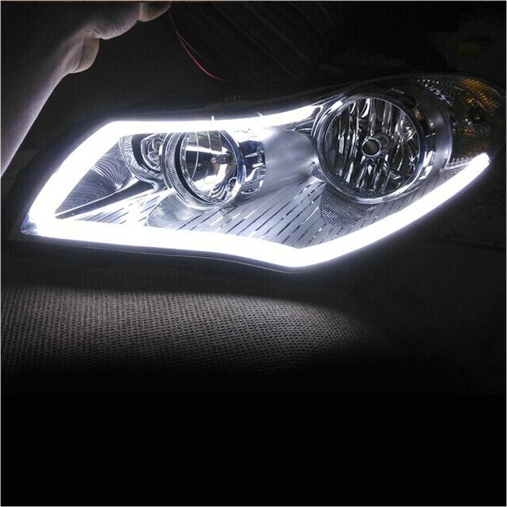 60cmflexible car softtube led striplight drl daytime running headlight lamp