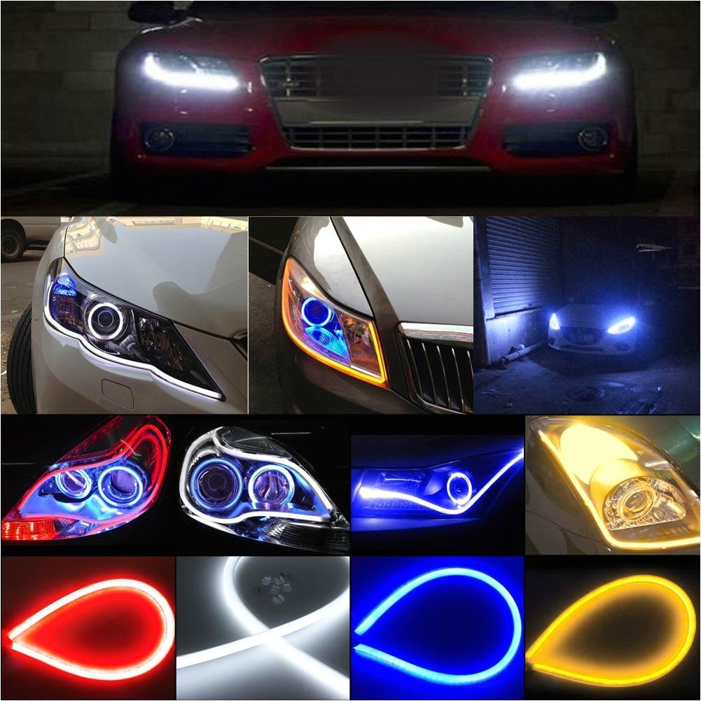 Led Strip Lights for Cars 60cm Flexible Car soft Tube Led Strip Light Drl Daytime Running