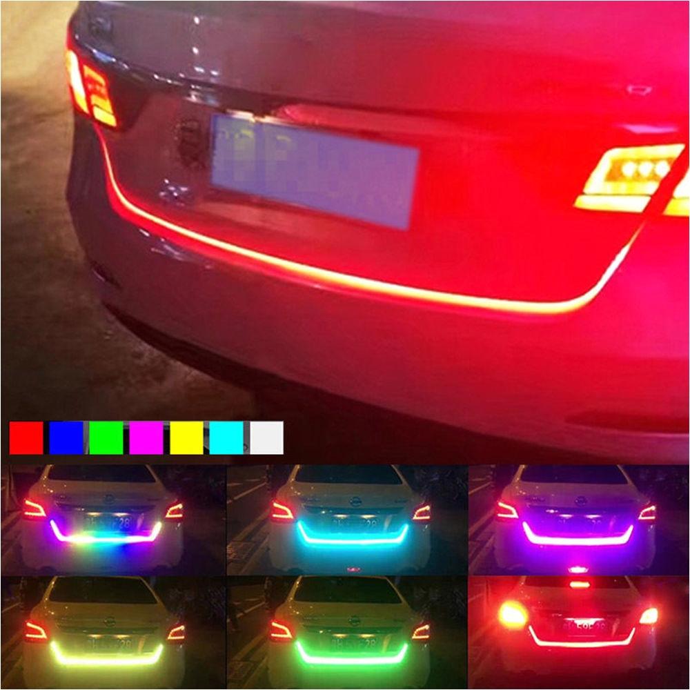 new 47 rgb led car trunk sliding light strip tailgate edge brake turn signal 7698739701935 ebay
