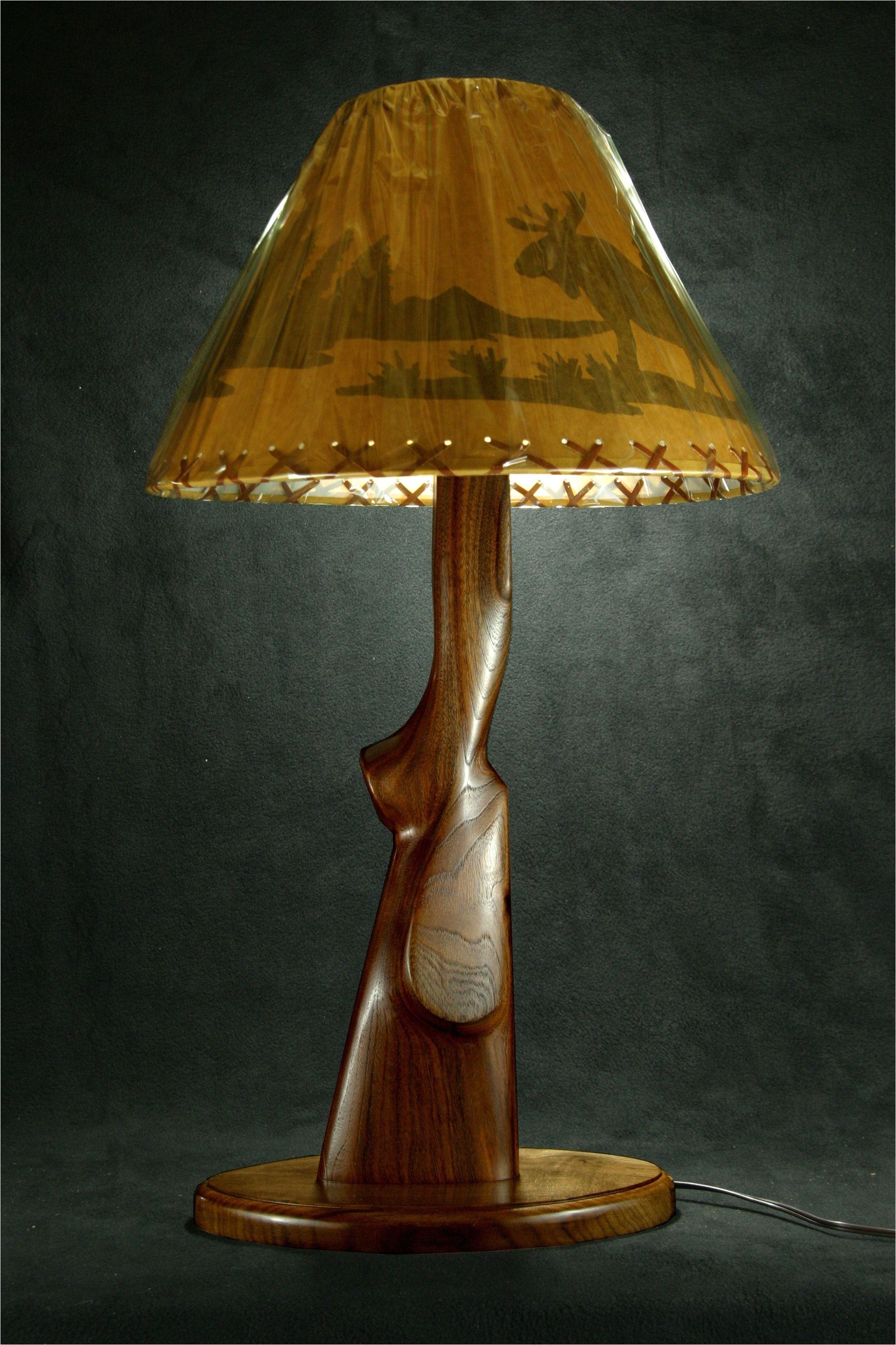 walnut gun stock lamp gun decor hidden gun gun rooms gun art