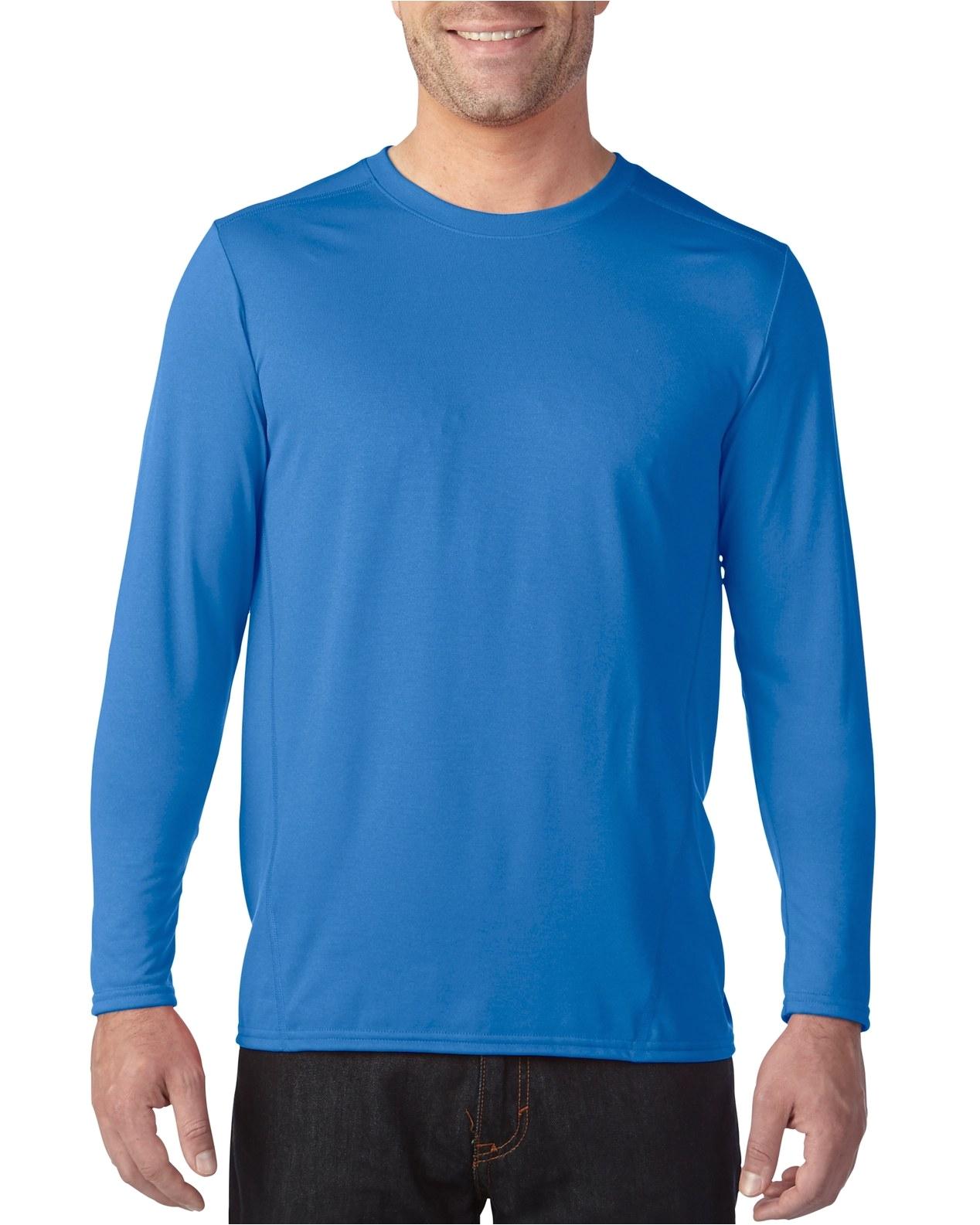 47400 gildan performancea 4 7 oz yda² adult long sleeve tech t shirt gildan