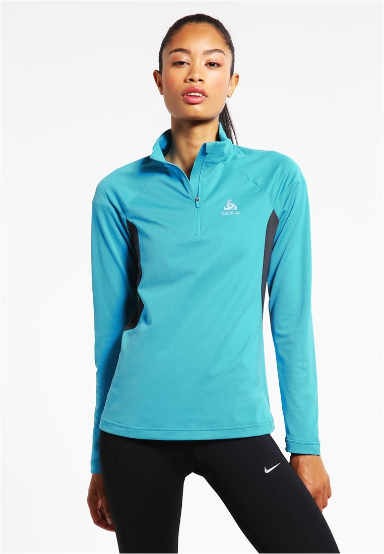 odlo versilia long sleeved top algiers blue women clothing sports