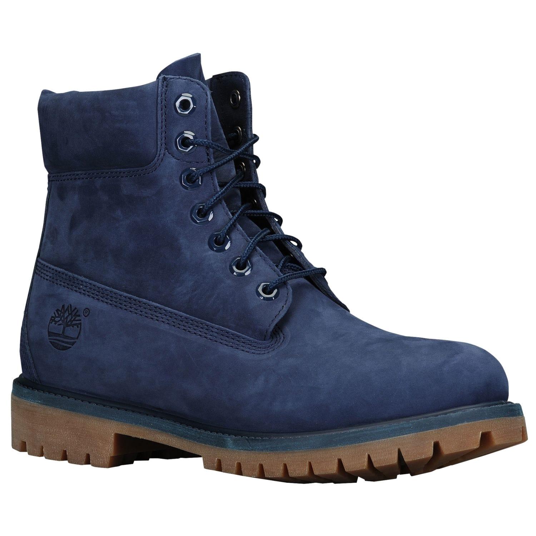 timberland 6 premium waterproof boots mens navy brown