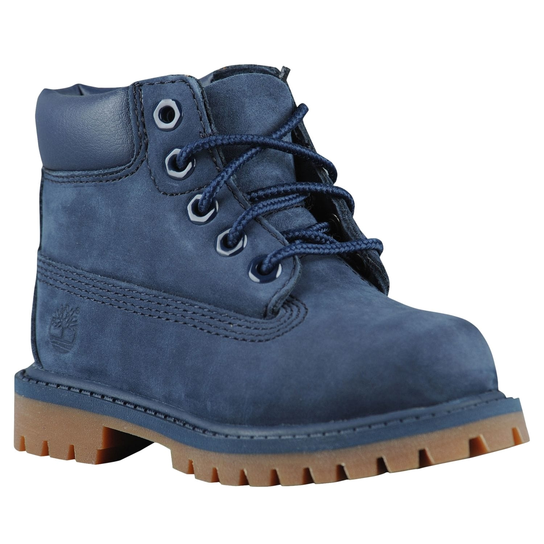 timberland 6 premium waterproof boots boys toddler navy brown