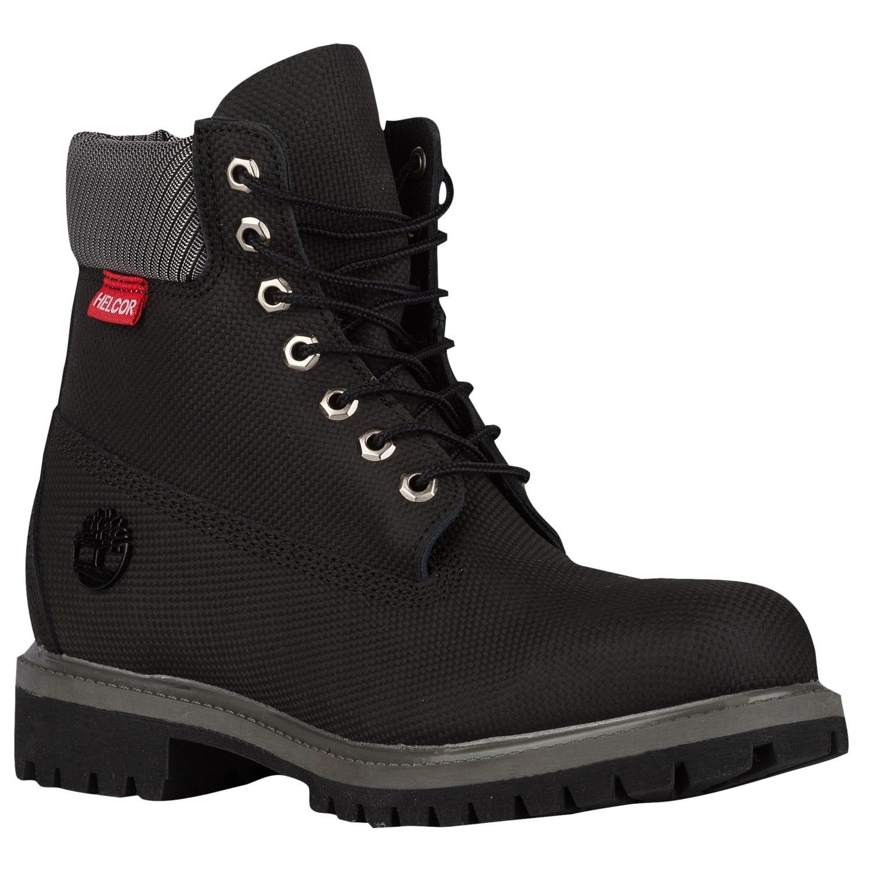 timberland 6 premium waterproof boots mens black grey