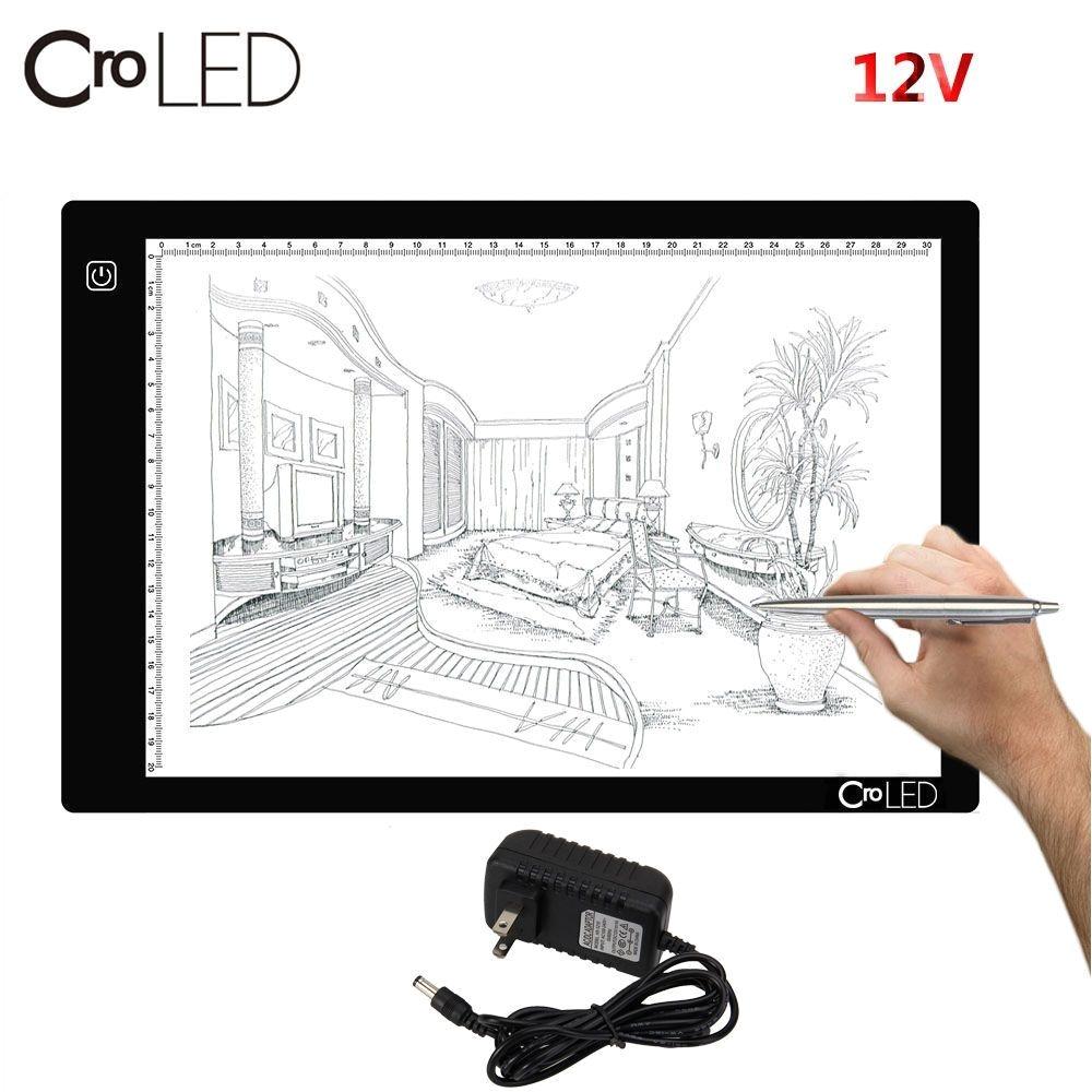 a4 led light box art stencil board tattoo drawing tracing table pad display us