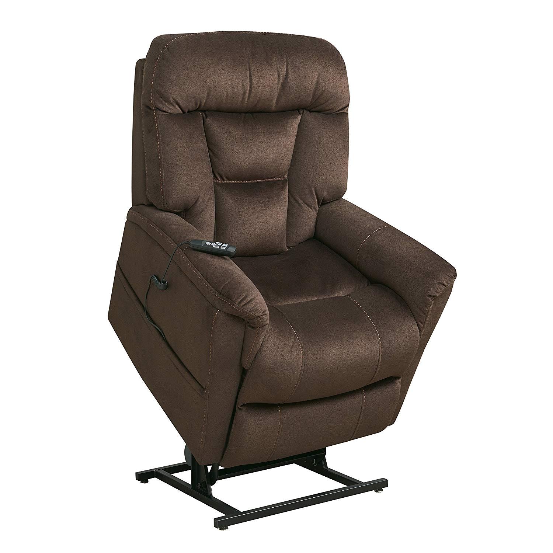 amazon com pulaski ds a278 016 349 dark brown dual motor fabric lift chair kitchen dining