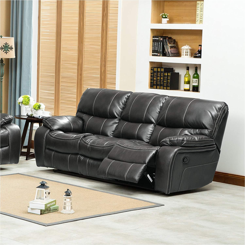 amazon com roundhill furniture ewa leather air reclining sofa grey kitchen dining