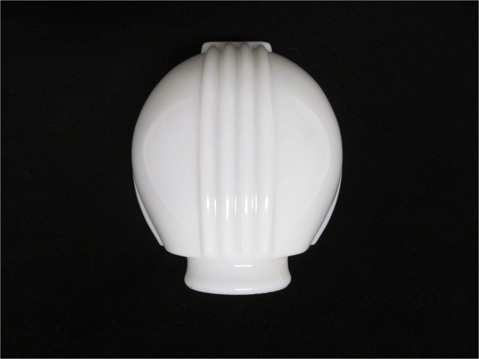 vintage art deco style milk glass light cover vintage glass lamp shade vintage lighting