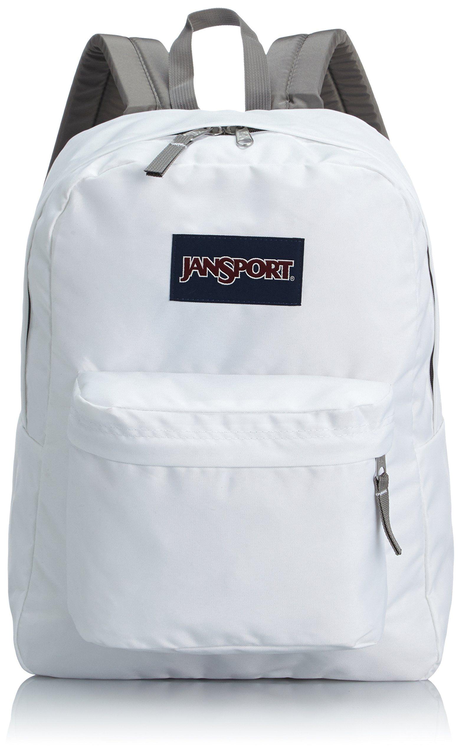 amazon com jansport superbreak backpack white jansport clothing student