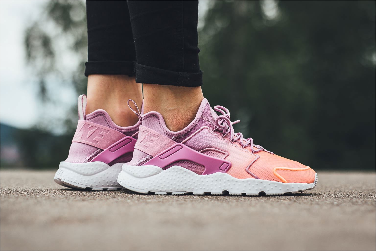 Light Pink Huaraches Womens Nike Air Huarache Ultra Breathe orchid Sunset Glow Trainer