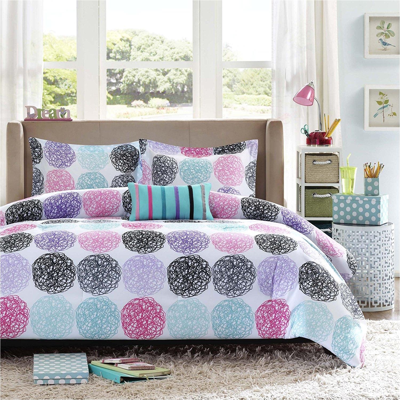 Light Purple Comforter Set Amazon Com Mi Zone Mz10 230 Doodled Circles Polka Dots Reversible
