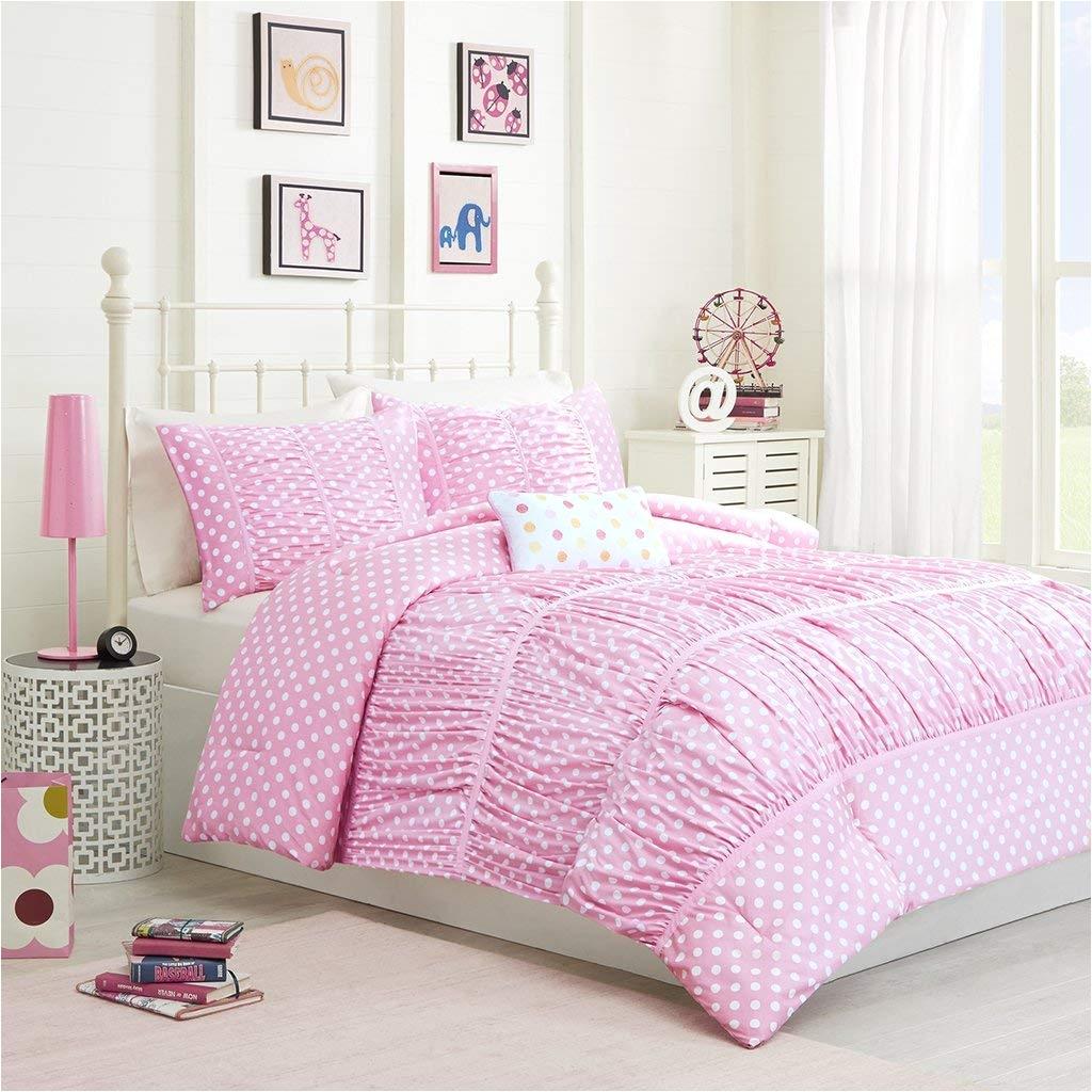 amazon com mizone lia 4 piece comforter set pink full queen home kitchen