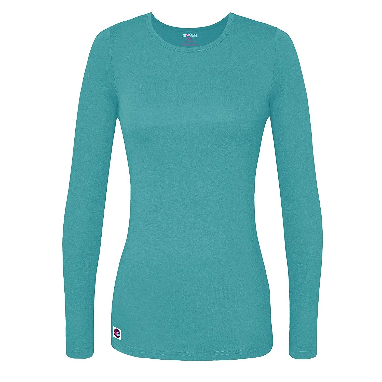 amazon com sivvan womens comfort long sleeve t shirt underscrub tee clothing