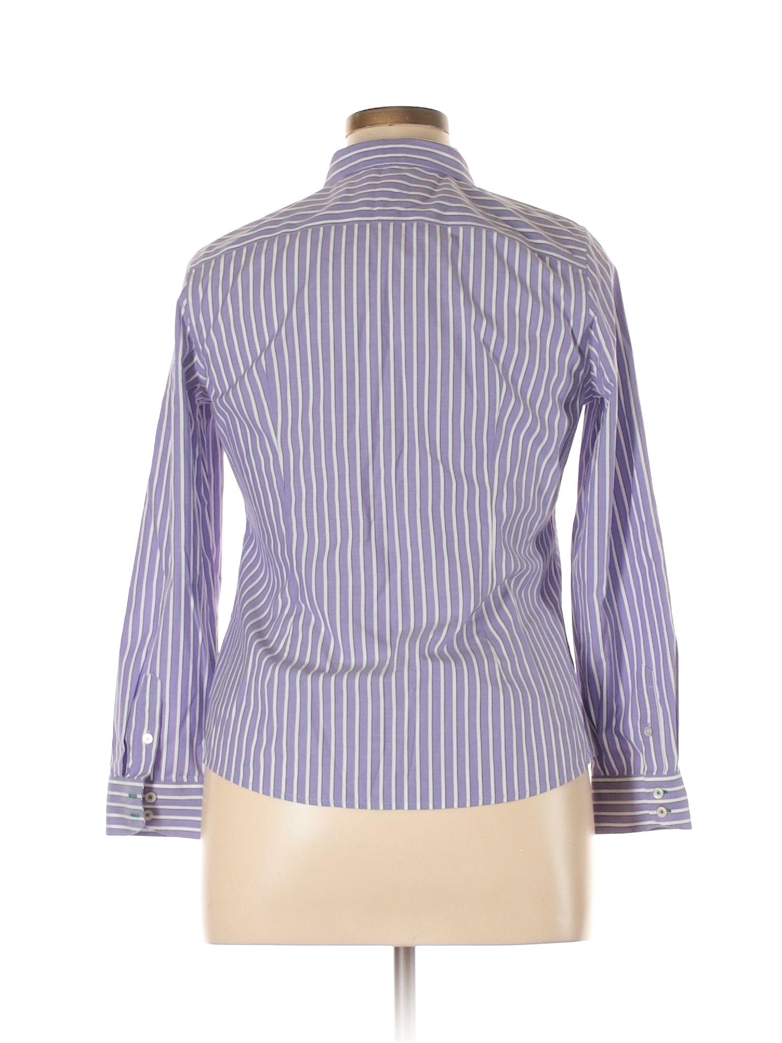 talbots long sleeve button down shirt light purple womens tops 27782023