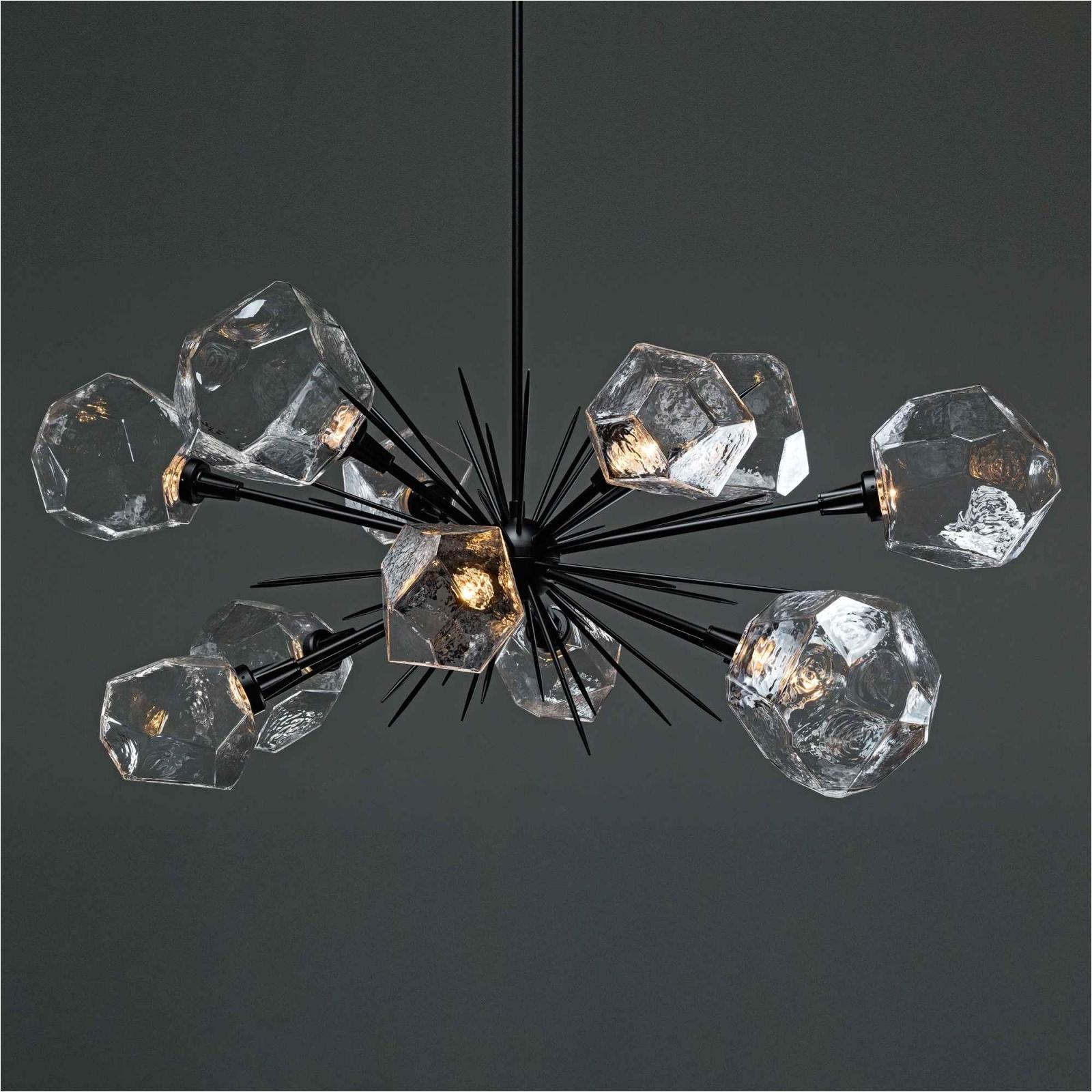 gem oval starburst chandelier plb0039 0d for chandeliers black