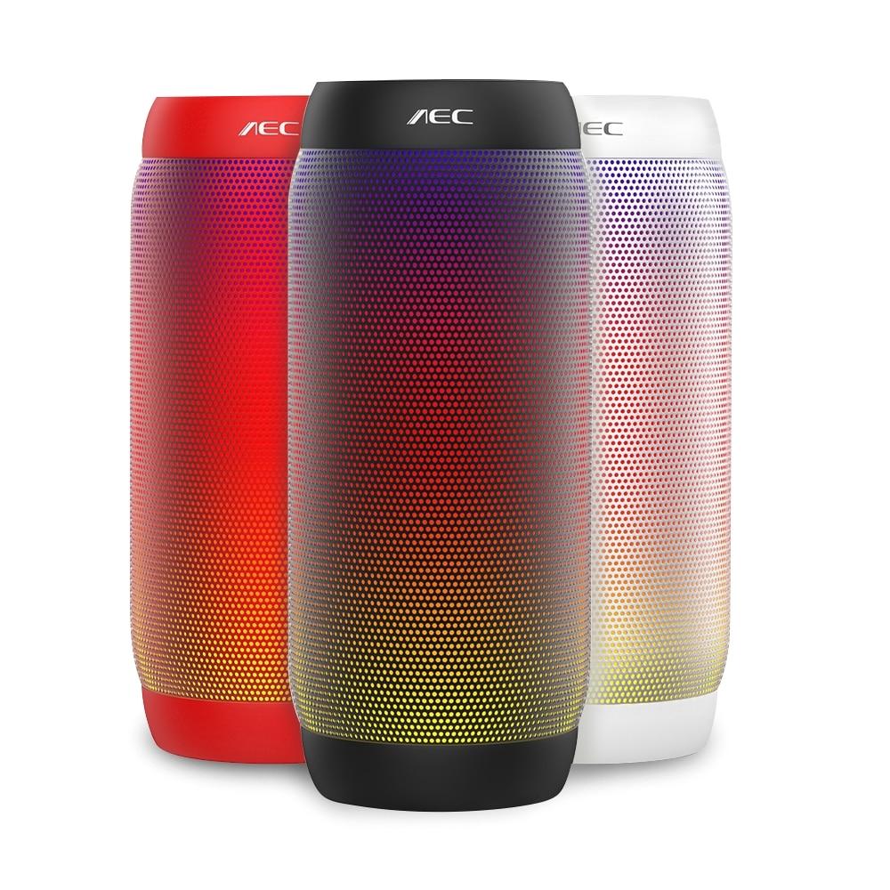 aec versao atualizada 615 s led luz portatil sem fio bluetooth speaker ao ar livre mini